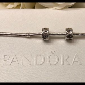 Authentic PANDORA / Pair of Stoppers / Clips